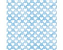 Sleepytime Animals White Hearts on Blue
