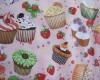 Cupcakes and Strawberries on a Pink Background