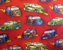Racing Cars on Red Background